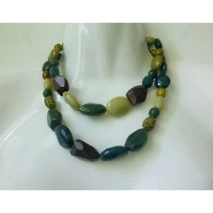 Beaded Necklace Multi Strand String Jewelry